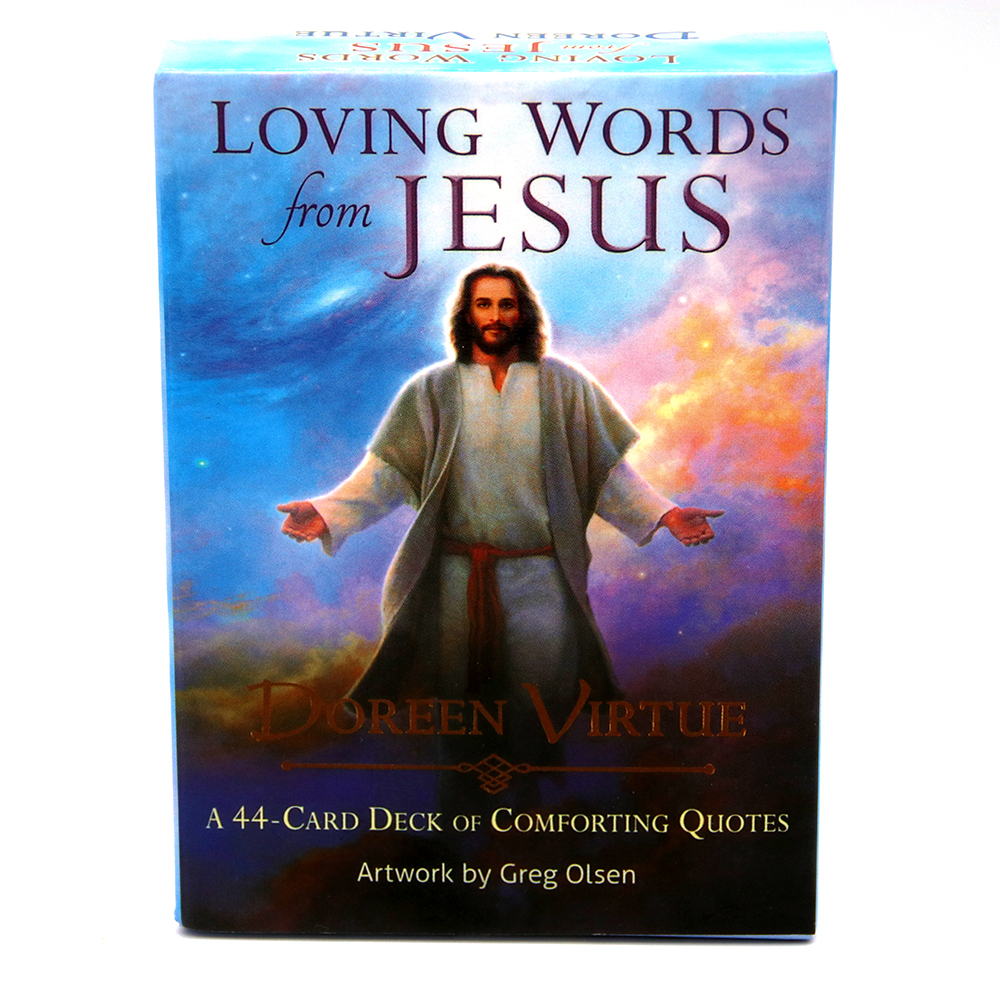 Loving Words From Jesus: A 44-Card Deck Cards Doreen Virtue Love And Respect For Jesus And His Inspiring Words In The Gospels