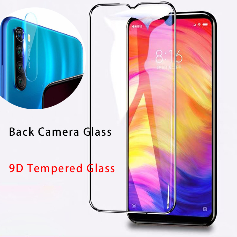 2 IN 1 Back Clear Camera Len Film For Redmi Note 8 Pro 9D Cover Protective Glass For Xiaomi Redmi Note 8 7 6 5 Pro 4 4X K20 Pro