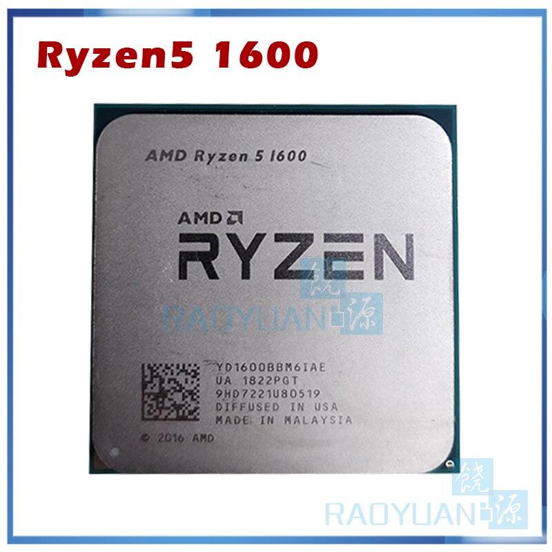Процессор AMD Ryzen 5 1600 R5 1600 R5 PRO 1600 3,2 ГГц шестиядерный двенадцати потоков 65 Вт Процессор YD1600BBM6IAE YD160BBBM6IAE разъем AM4