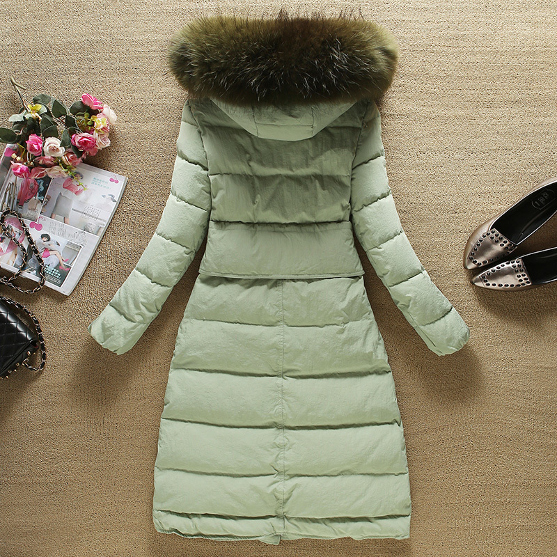 Thick Warm Winter Coat Women Clothes 2020 Korean 90% Duck Down Jacket Large Raccoon Fur Hooded Ladies Long Coat YRF-6695