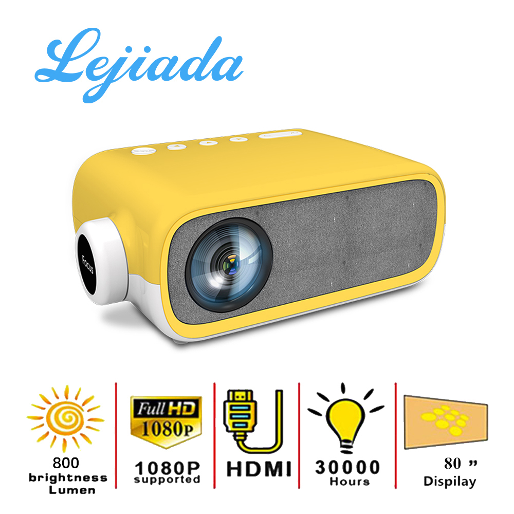 LEJIADA NEW YG280 LED Mini Projector 480*272 Pixels with HDMI/USB/AV/Audio Interface Portable Projection Home Media Player