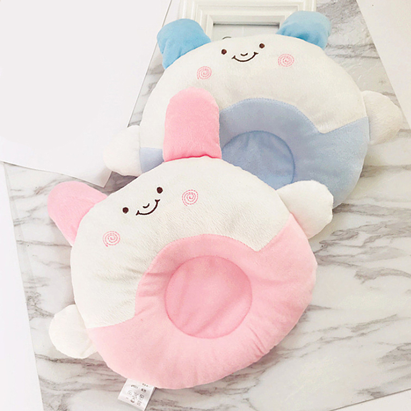 Newborn Velvet Anti Roll Cushion Baby Soft Sleeping Positioner Cute Calf Design Baby Infant Prevent Flat Head Pillow