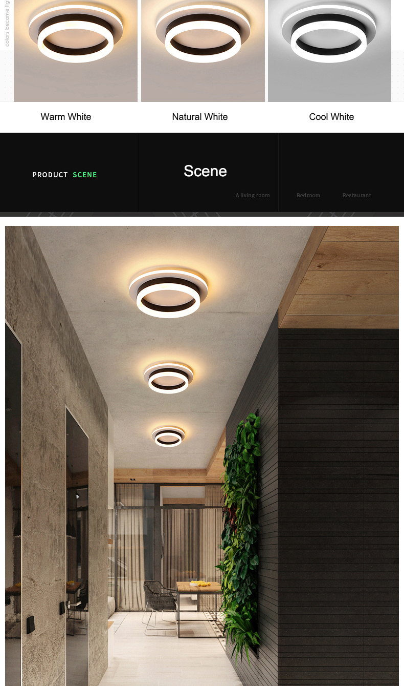 H64085c10389b43969ac3491d85b3eeccN Modern Led Ceiling Lights For Hallway Porch Balcony Bedroom Living Room Surface Mounted Square/Round LED Ceiling Lamp