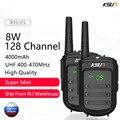 Портативная рация KSUN 8 Вт, приемопередаточная радиостанция, УВЧ 400-470 МГц, 128 каналов, передатчик, приемопередатчик, 1 или 2 шт.