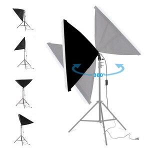 Image 2 - 写真ソフトボックス照明キット 50 × 70 センチメートルプロ連続光システムのためのフォトスタジオ機器 2 メートル三脚