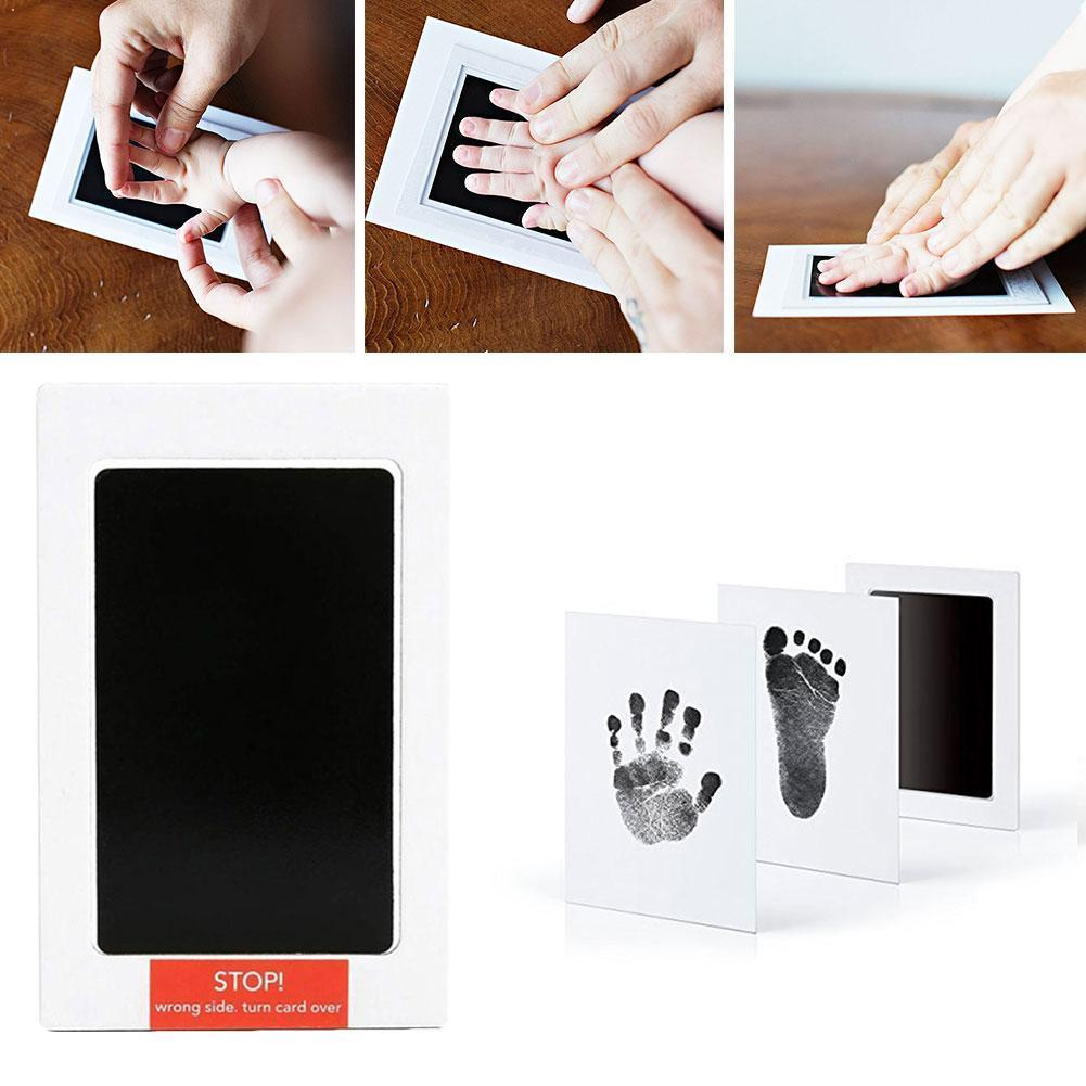 Baby Footprint Handprint Ink Pads Baby Pet Paw Prints Kids For Baby Non-toxic Souvenir Kits Safe Pads Ink O9Z3