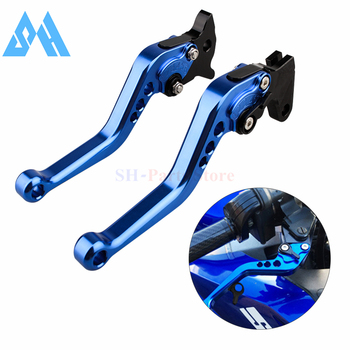 Blue Short Brake Clutch Levers For Honda CB300R CBR250R CBR300R CB300F CBR500R CB500F CB500X GROM MSX125 NSR50 Z125 monkey bike image