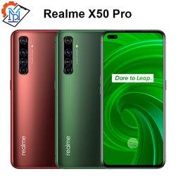 Оригинальный Realme X50 Pro 5G мобильный телефон 5,44 дюймSuperAmoled 12 Гб + 256 ГБ Snapdragon 865 Android 10,0 65 Вт Superdart зарядки смартфона