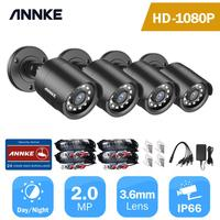 ANNKE 4pcs 2MP 1080P HD Security Surveillance System Camera IR Cut Night Vision Waterproof Housing Bullet Camera Kit