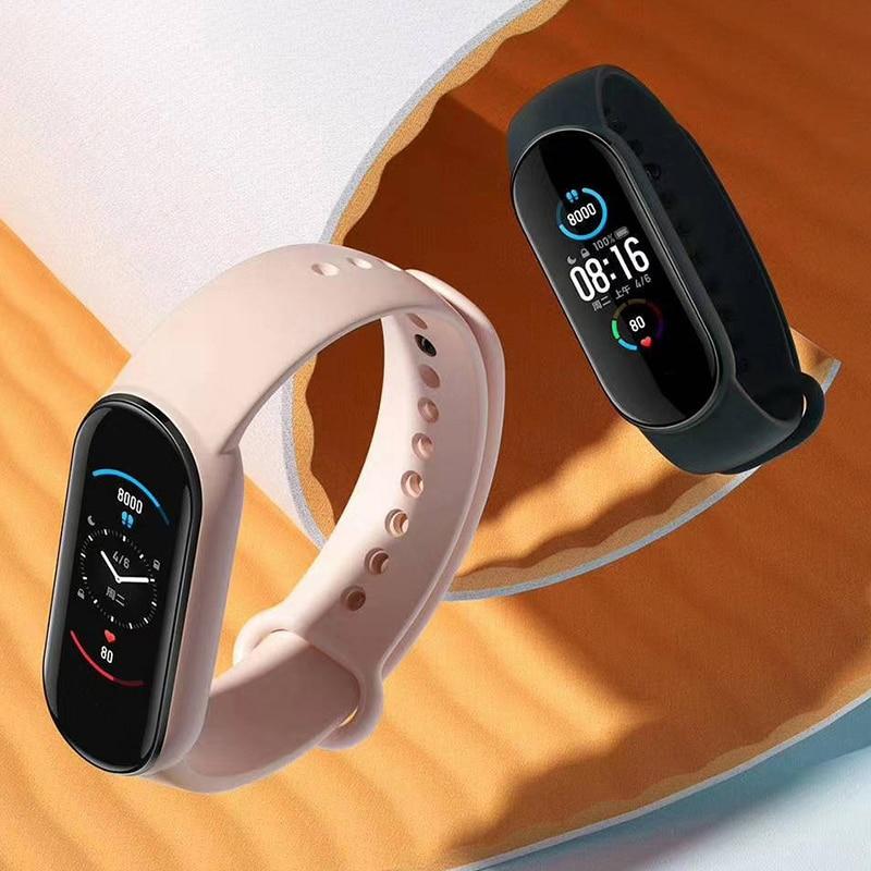 Смарт-браслет Xiaomi Mi Band 5 с большим AMOLED экраном 1:1, пульсометром, фитнес-трекером, Bluetooth 5,0, спортивный водонепроницаемый браслет 5 4