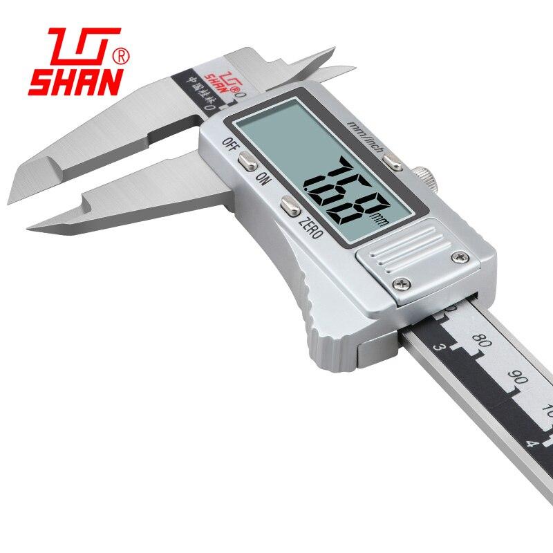 Absolute digitale messschieber hohe präzision edelstahl sattel 0-150 200 mm Elektronische digitale messschieber mess werkzeug