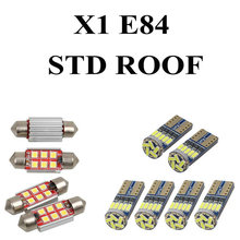 LED Interior Car Lights For Bmw X1 E84 STD ROOF Error free Map Dome Reading Visor Door FootWell Trunk Courtesy 12pc