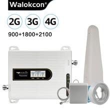 2020 새로운 업그레이드 셀룰러 증폭기 GSM 중계기 2g 3g 4g GSM 900 4G LTE 1800 3G UMTS WCDMA 2100 MHz 모바일 신호 부스터 70dB @