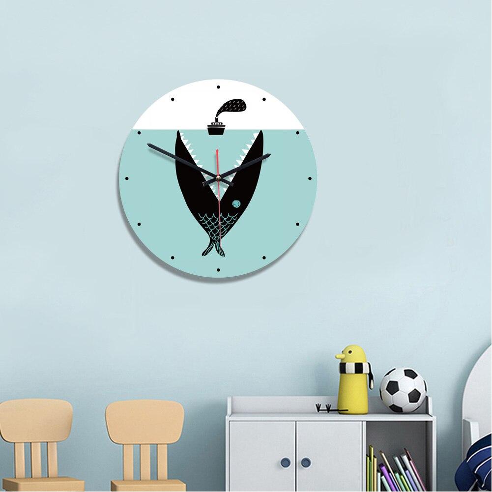 Creative Wall Clock Cartoon Watch Clock Art  DIY  Quartz Needle Horlog Wall Clock Mirror Stickers Home Decoration Living Bedroom