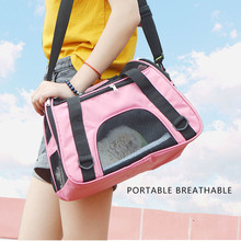 Portable Carriers Bag Mesh Breathable Pets Handbag Travel Tent Carrier Outdoor Bags for Small Dogs Foldable Pet Bag Soft-sided