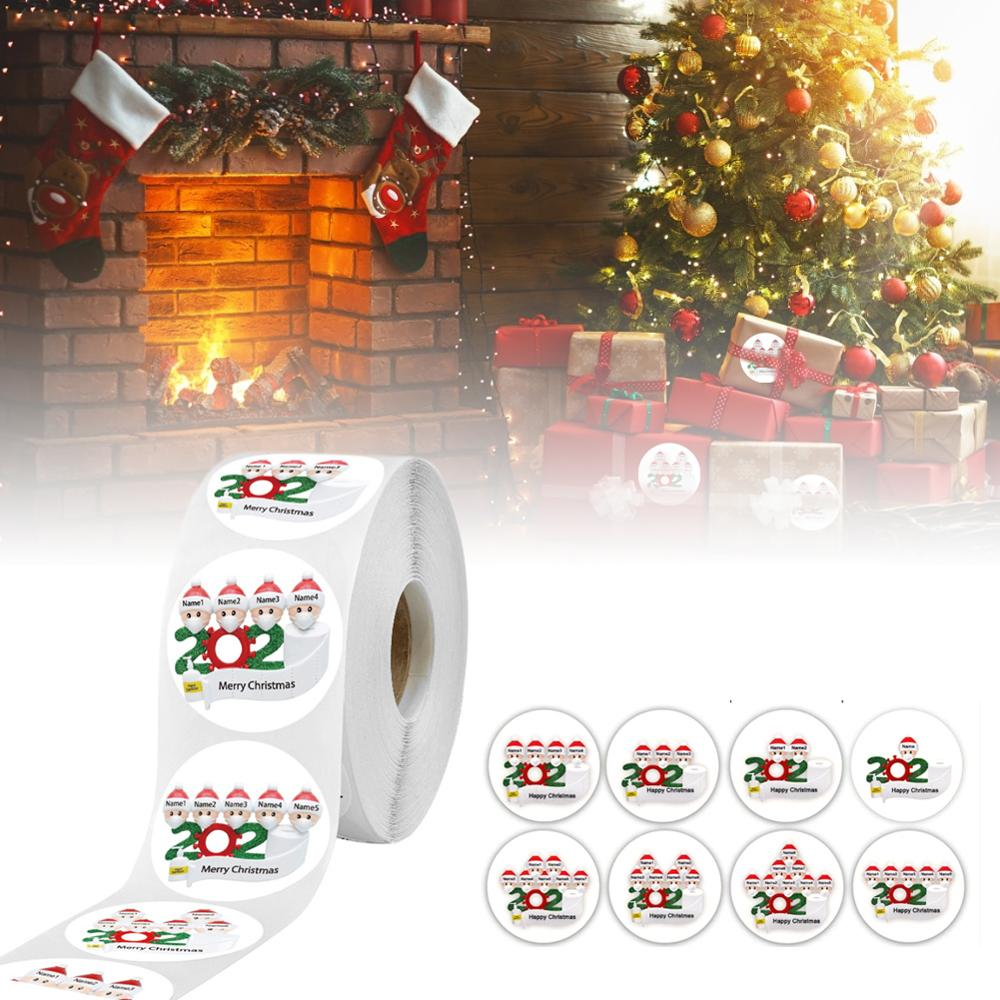 500PCS/2.5-3.8cm Xmas Sticker Personalized Design Your Label Gift Box Birthday Party Seal Sticker Self-adhesive Gift Tag Sticker  - buy with discount