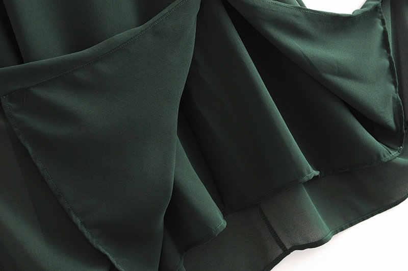 Vestido de Lacey Retro de tazaleas vestidos de Francia con abertura lateral Casual Vintage escote Corazón Verde para mujer vestidos por debajo de la rodilla