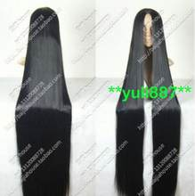 Jewelry Wig New cosplay wig 150cm center part bang long black hair Halloween Free Shipping(China)