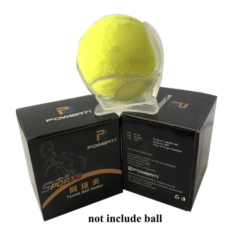 1Pc Professional Tennis Ball Clip Tennis Ball Holder Waist Clip Transparent Holds Training Equipment Tennis Ball Accessoriese