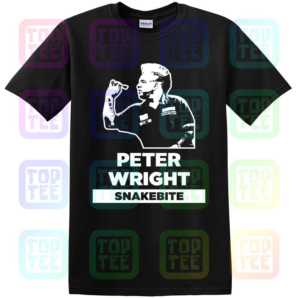 Snakebite Peter Wright Darts Blue T-Shirt S-XXL World Champs 2019 Unofficial