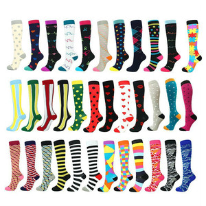 44 Color Running Men Women Socks Sports Compression Happy Tube Socks Support Nylon Unisex Outdoor Racing Long Pressure Stockings
