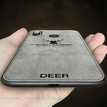 Deer tkaniny etui na telefon xiaomi mi 9 9SE 8 A2 Lite 6X 5X Pocophone F1 czerwony mi k20 uwaga 8 7 6 5 Pro S2 6A 7A 5plus 4X pokrywa Coque tanie tanio DREAMYSOW Aneks Skrzynki Protective Phone Case Zwierząt Odporna na brud Anti-knock For Xiaomi For Redmi
