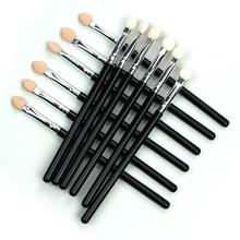 Eyeshadow Applicator Sponge Double Color Portable Make Up Eye Shadow Brushes  Nail Mirror Powder Brush