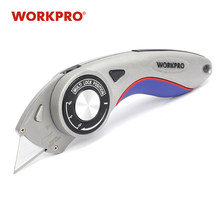 WORKPRO New Folding Knife Security Knives Utility Knife Aluminum Handle Pipe Cutter