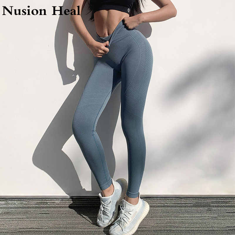 2020 Hohe Taille Frauen Yoga Leggings Workout Atmungsaktive Fitness Gym Leggings Energie Nahtlose Leggings Stretchy Ausbildung Yoga Hose