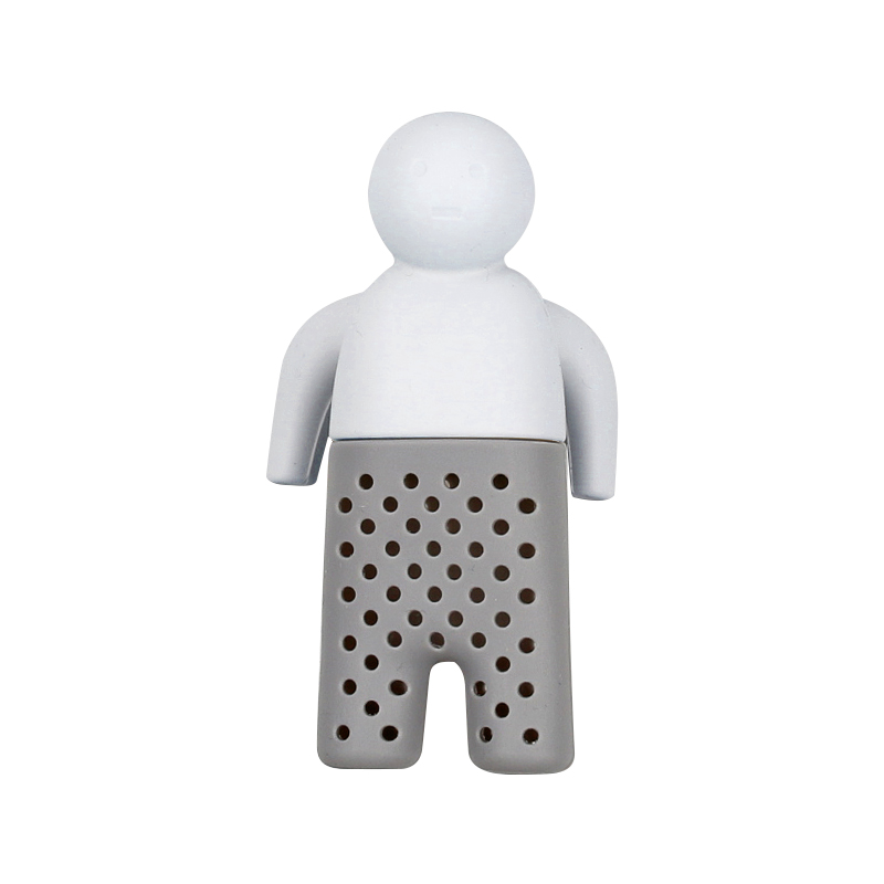 Silicone Tea Strainer Cute Mister Teapot Little Man People Tea Infuser Filter  Tea Diffuser Brewing Making Teapot Accessories