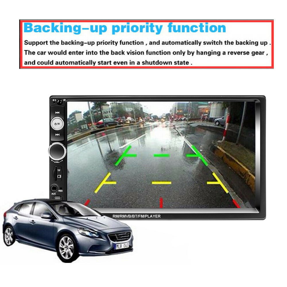 "Podofo 2 din Car Radio 7"" HD Autoradio Multimedia Player 2DIN Touch Screen Auto audio Car Stereo MP5 Bluetooth USB TF FM Camera 4"
