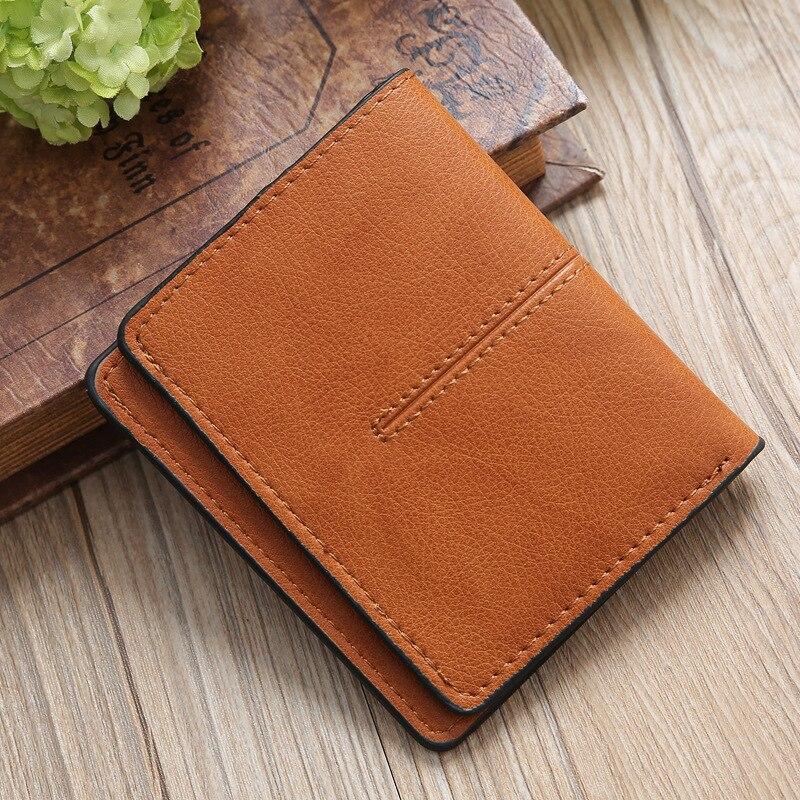 Маленький кошелек, новый стиль, Женский кошелек, простой, для карт, кошелек, женский, два сложения, короткий, ультра-тонкий, Ретро стиль