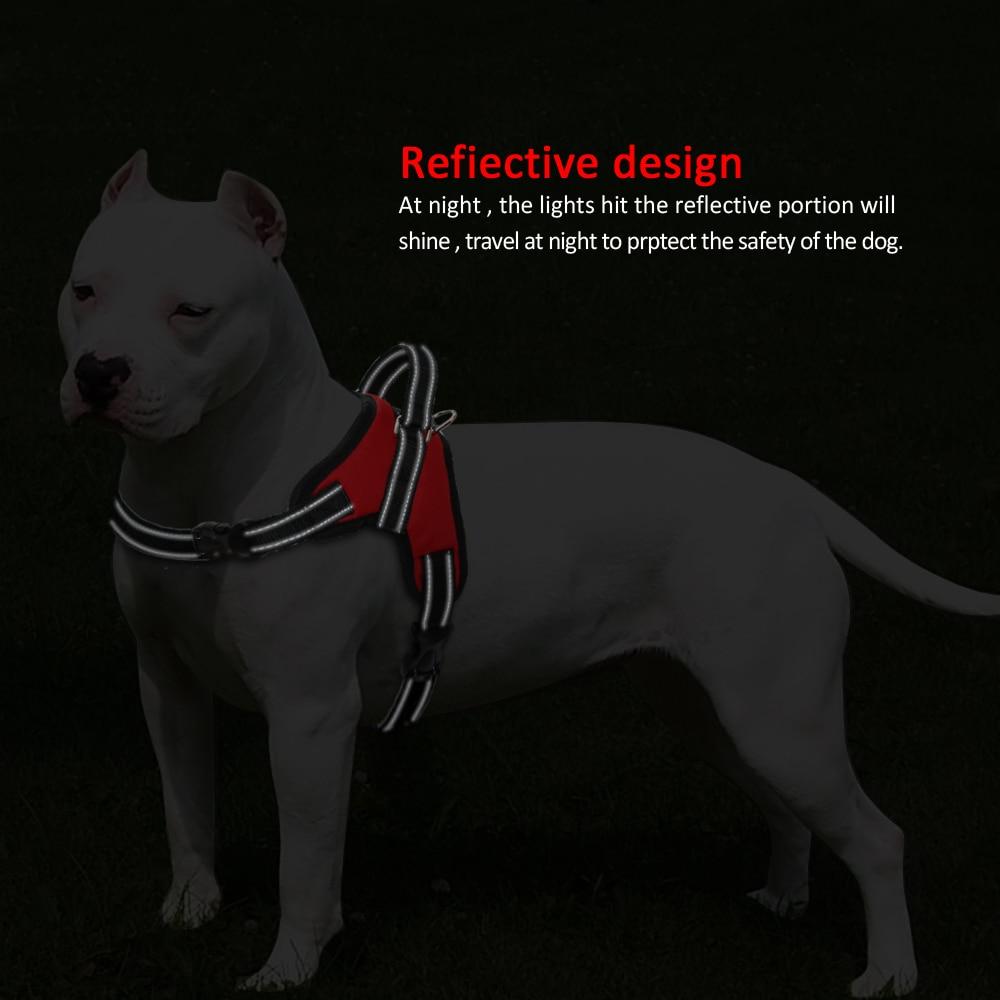 Adjustable Nylon Pet Dog Harness Vest Reflective Mesh Big Harnesses For Small Medium Large Dogs Walking Training K9 Husky S-XL 2