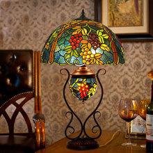 17 inch Tiffany table lamp American classical handmade living room table lamp stained glass antique mosaic burner plug lamp oil table lamp wedding the area of shipping complex tiffany