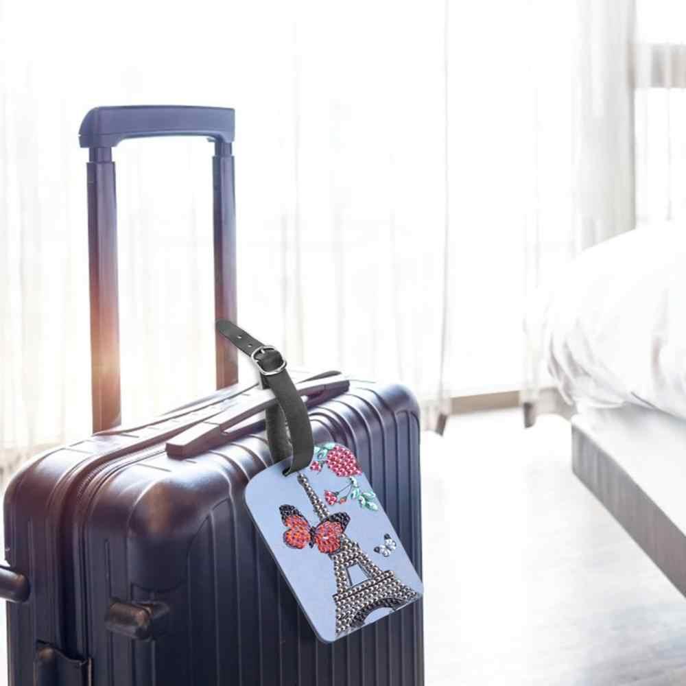 Diy Diamant Schilderij Bagagelabel Reizen Accessoires Koffer Id Adres Holder Bagage Boarding Tag Draagbare Label Tas Label