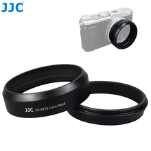 Jjc カメラネジ金属レンズフード 49 ミリメートルフィルターアダプターリングキャップ糸富士フイルム X100V X100F X70 置き換え富士フイルム LH X70
