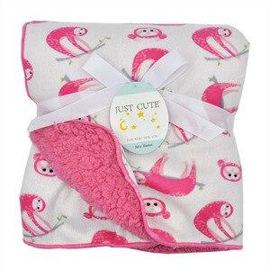 Image 4 - Bebek battaniye sıcak mercan polar bebek kundak kalınlaşmak çift katmanlı çeşitli karikatür arabası Wrap yenidoğan bebek yatak battaniyesi