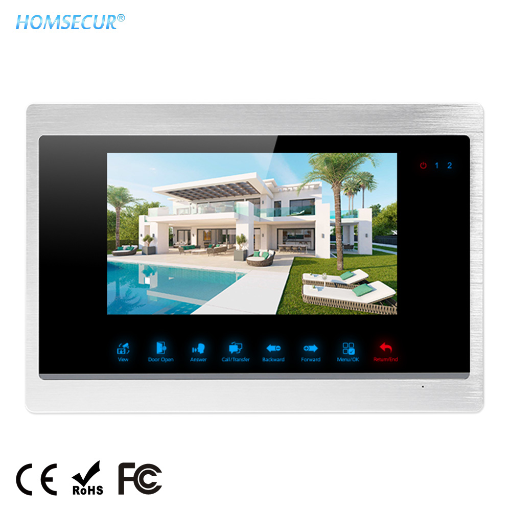 """HOMSECUR 7"""" TFT LCD Video Door Phone Indoor Monitor BM702HD-S With Touch Keypad 1024x600 For HDK Series"""