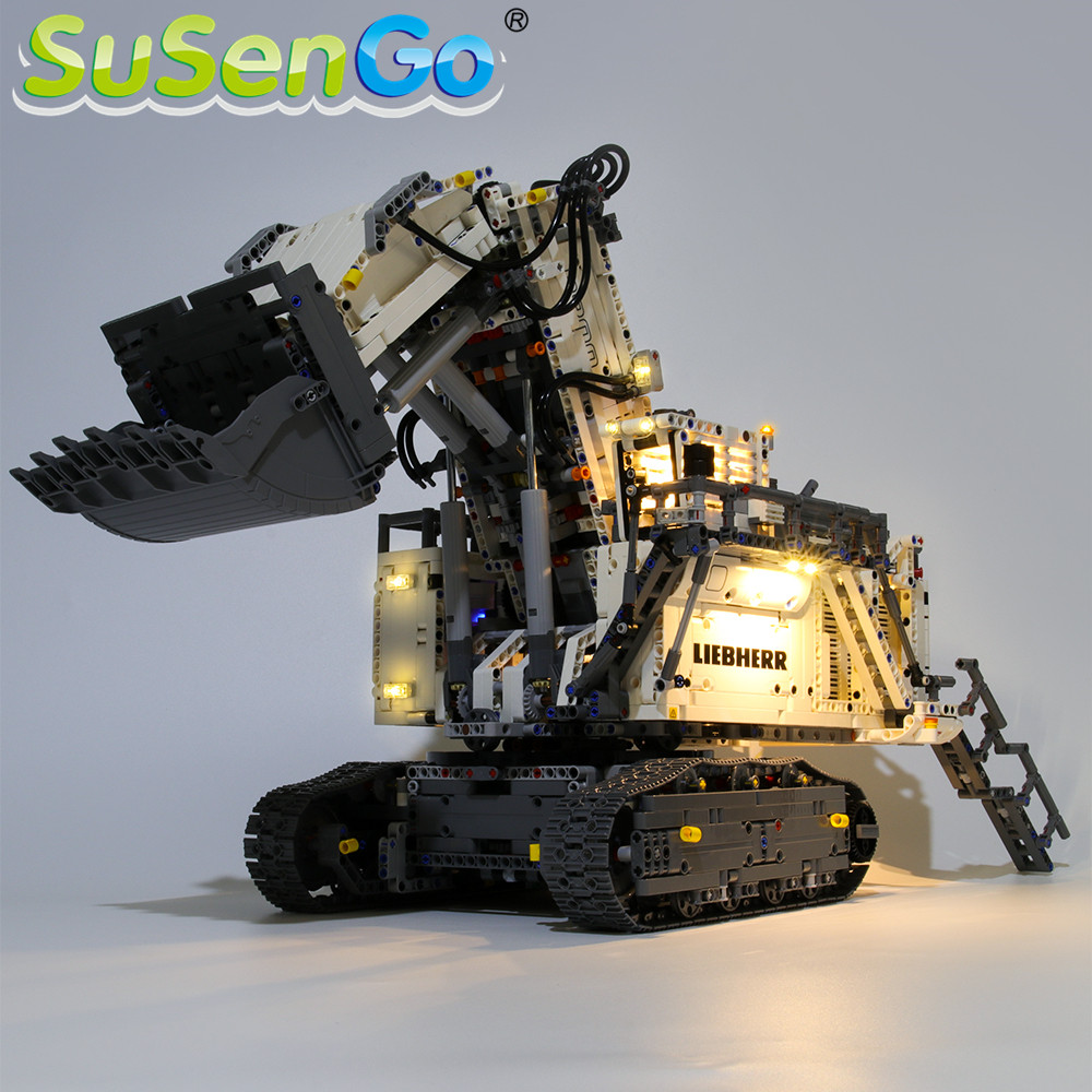 SuSenGo LED Light Kit For Technic Liebherr R 9800 Excavator  Building Blocks Lighting Set Compatible With  42100