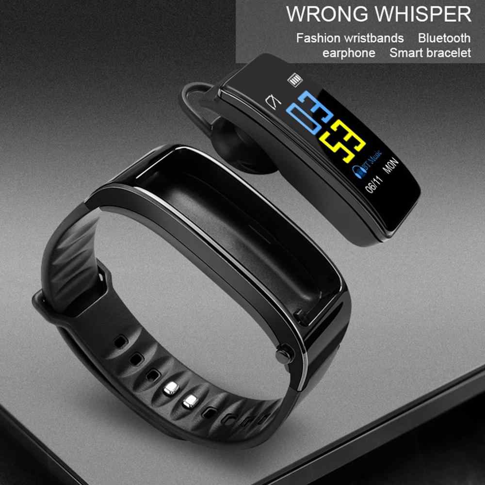 Plus 2-in-1 Smart Bracelet With Bluetooth Earphone Smart Watch 0.96 Heart Rate Long Time Stand By Record your movement reloj