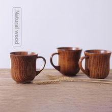 New Jujube Wood Handmade Natural Wood Coffee Printing Tea Beer Juice Milk Mug Bottle For Drinking Home Accessories(China)