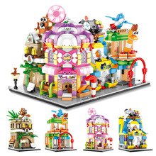 цена на Toys For Children City Street Model Model Kit Compatible Legoing DIY Assembled Educational Building Blocks Brick Kids New O38