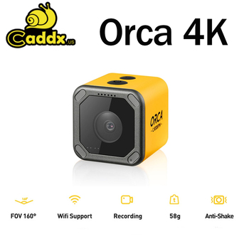 Caddx Orca 4K HD Recording Mini FPV Camera FOV 160 Degree WiFi Anti-Shake DVR Action Cam for RC Racing Drone Airplane