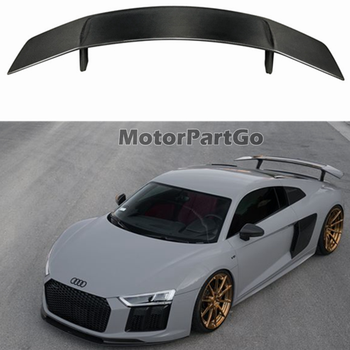 FRP Car Rear Wing Trunk Lip Spoilers For Audi R8 V10 Coupe 2016 - 2019   A109F 1