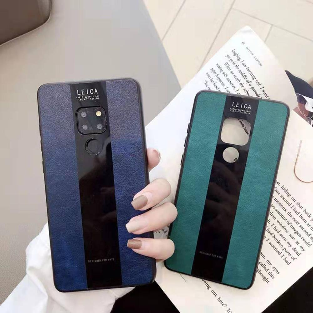 Phone case Mate 30 20 10 Pro case PU leather material Honor 20 for Huawei P30 Pro P20 Lite case non slip Plain color solid color