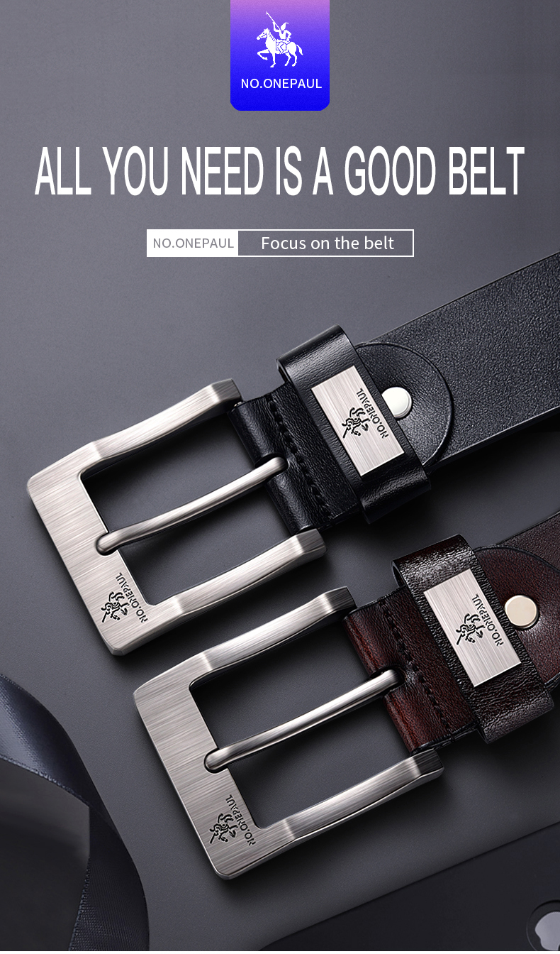 H640a74f758104e94890e265022bd26e7u - NO.ONEPAUL cow genuine leather luxury strap male belts for men new fashion classice vintage pin buckle men belt High Quality