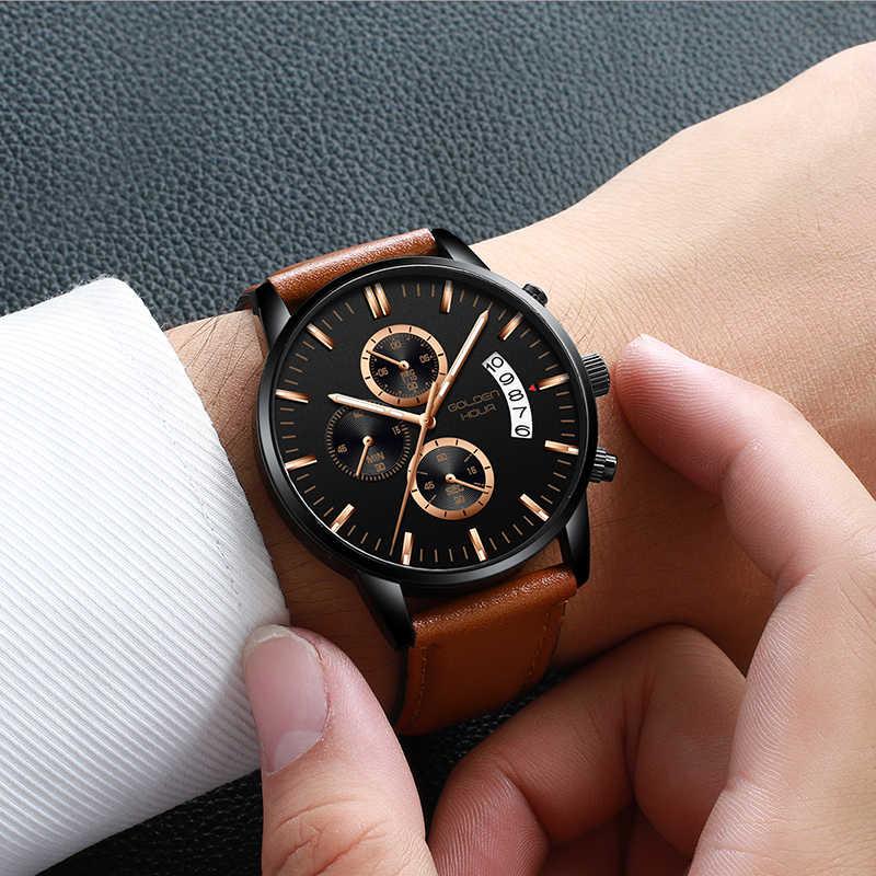 Nuevo reloj de hombre personalizado para hombre de GOLDENHOUR, relojes deportivos para hombre, alarma impermeable, reloj de pulsera para hombre, reloj de pulsera para hombre