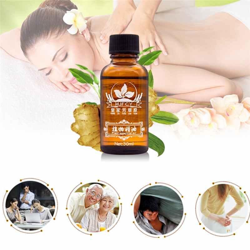 Terapi Drainase Limfatik Minyak Jahe untuk Bersantai Tubuh Minyak Esensial Alami Tubuh Pijat Perawatan Kesehatan 30 Ml/Botol Alami tanaman