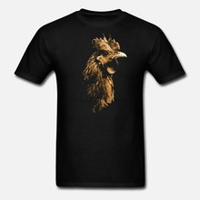 Men t shirt Funny Chicken Face Hen Lover Rooster Bird Animal tshirts Women t shirt(China)
