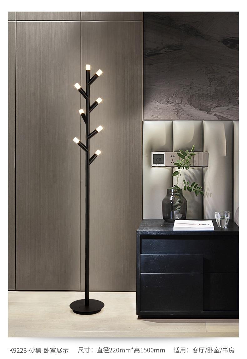 Nordic minimalista led lampe piso lampsmoderno conduziu